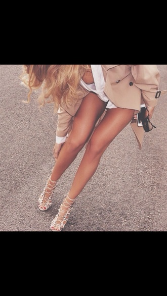 shoes taupe nude heels sandal heels need need this heels :( obsession love