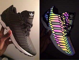 shoes adidas highlight black colorful glow in the dark adidas shoes
