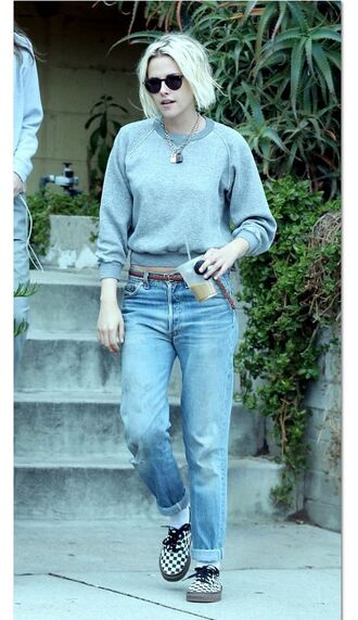shoes sneakers sweater sweat the style sweatshirt kristen stewart jeans vans