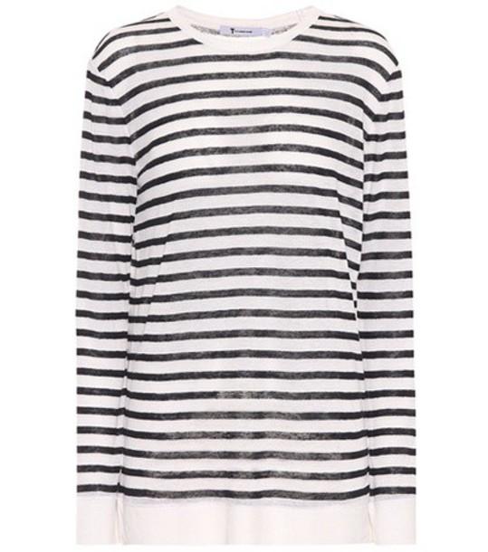 T by Alexander Wang shirt long white top