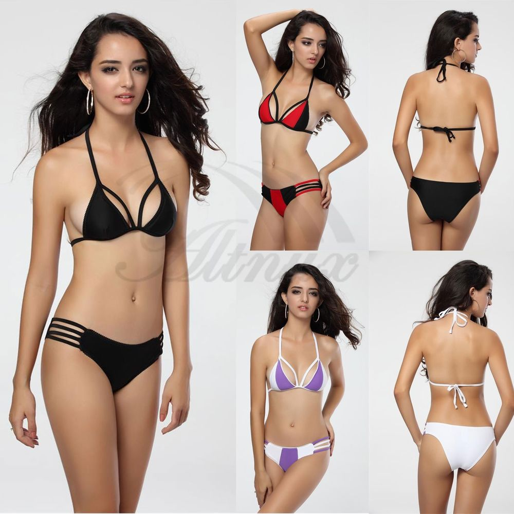 Hot Girl/Lady SEXY Bikini SET Push-up Padded Bra Swimsuit Bathing Suit swimwear