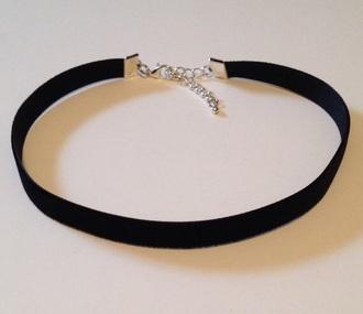 jewels black necklace choker necklace velvet cute grunge bohemian silver black choker jewelry boho jewelry grunge jewelry