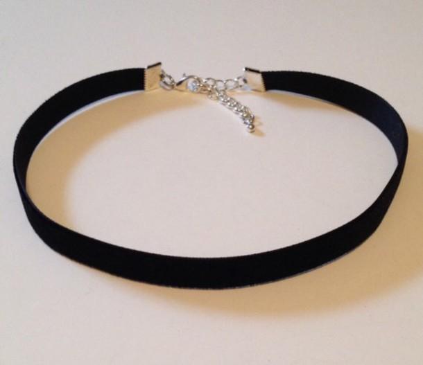 jewels black necklace choker necklace velvet cute grunge bohemian silver choker necklace black choker jewelry boho jewelry grunge jewelry