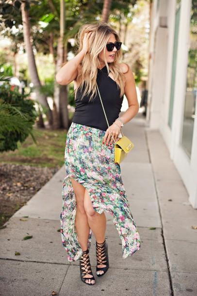 devon rachel t-shirt skirt shoes bag sunglasses