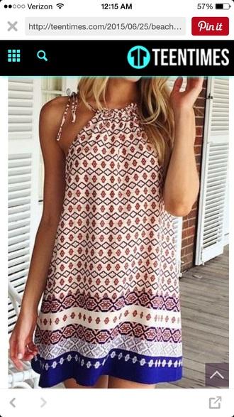 dress tribal pattern crazy design