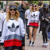 top,adidas,jordans,rihanna shirt,sunglasses,t-shirt,sweater,style