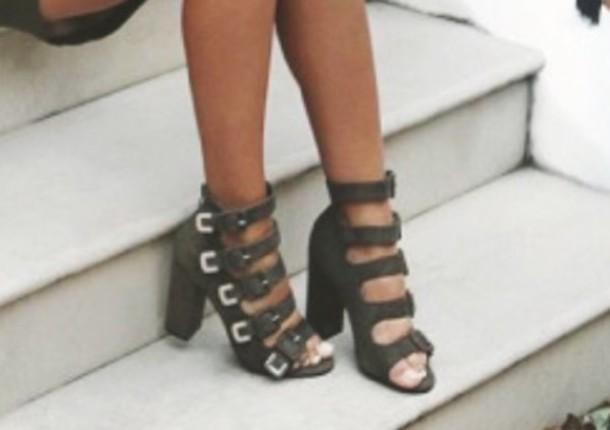 97f3d54f76d shoes olive green sandals heels
