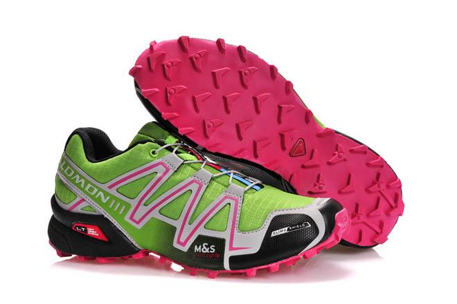 Salomon Speedcross 3 - Mountain trail-running - Footwear Mens green pink black silver