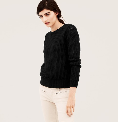 Textured Open Stitch Sweater | Loft