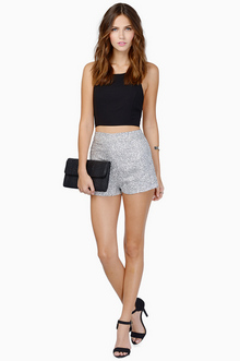 Diva Sequin Shorts $40