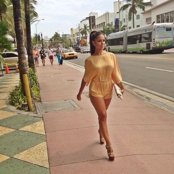 shorts dress jumpsuit nude