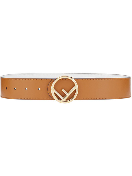 Fendi women belt leather brown