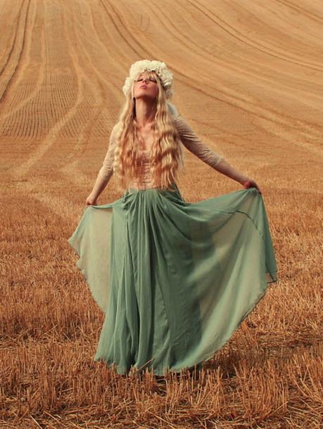skirt summer outfits hobo floral headband maxi skirt hippie