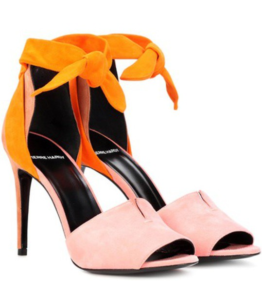 Pierre Hardy sandals suede pink shoes