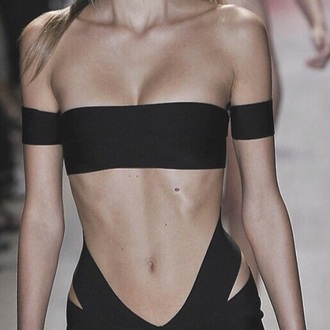 top bandeau tube top black
