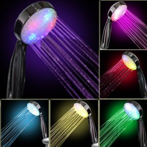 7 COLOR LED SHOWER HEAD ROMANTIC LIGHTS WATER HOME BATH - Xmas day - Amazon.com