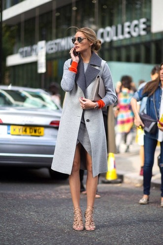 coat vest olivia palermo fashion week 2014 grey fall outfits