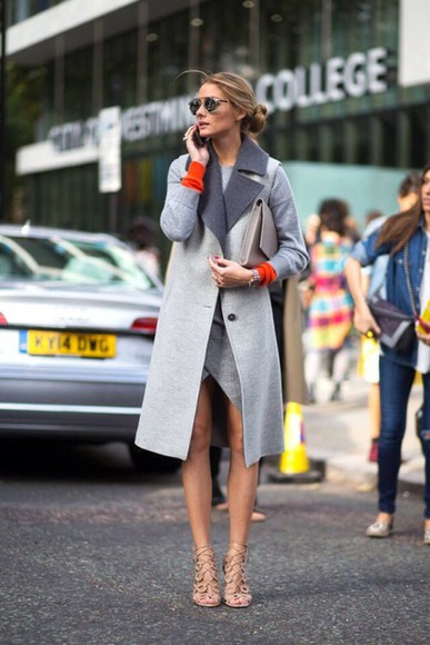 olivia palermo fashion week 2014 coat vest grey fall outfits