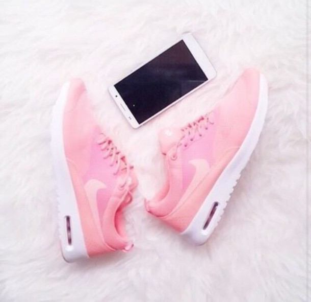 shoes, pink, cute, nike, running shoes, pink nikes, air max