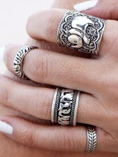 jewels,girl,girly,girly wishlist,ring,knuckle ring,rings and tings,rings cute summer,silver,silver ring,elephant