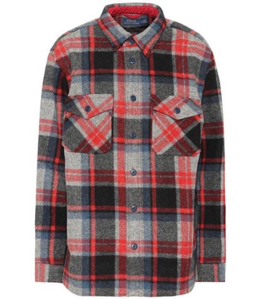 Polo Ralph Lauren Plaid wool shirt in red