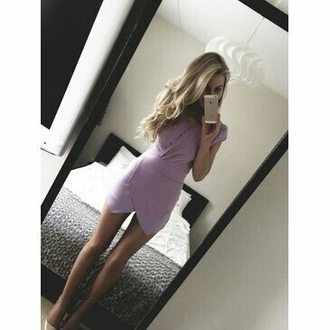 dress pink purple dress cute dress purple purple dress lavender girly cute classy sexy denim girl cool dope summer quote on it vintage hipster indie casual tumblr tumblr outfit tumblr dress tumblr girl stylish style trendy fashion inspo outfit idea blogger fashionista chill rad pretty beautiful swag gorgeous on point clothing lilac dress lilac blonde hair barbie envelope dress romper wrap top dress