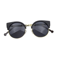 Round half gold / black sunglasses · electric shop · online store powered by storenvy