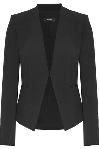 blazer black wool jacket