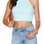 Solid Color Ribbed Knitted Crop Top