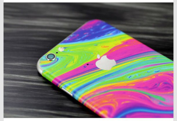 phone cover iphone blue green pink purple yellow silver iphone cover