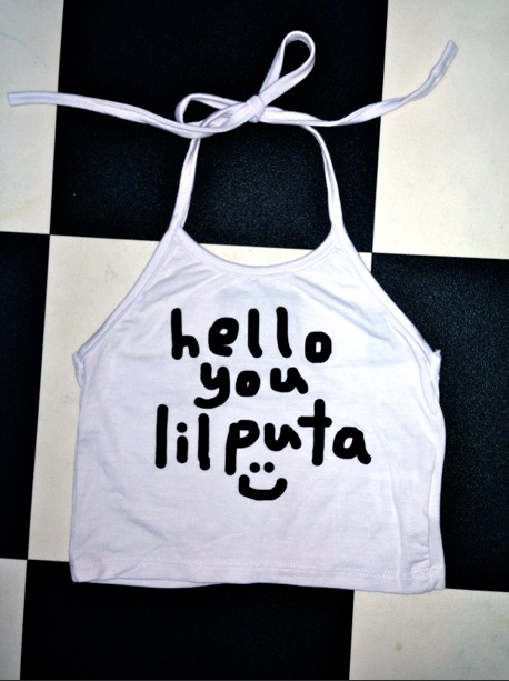 SWEET LORD O'MIGHTY! LIL PUTA HALTER TOP