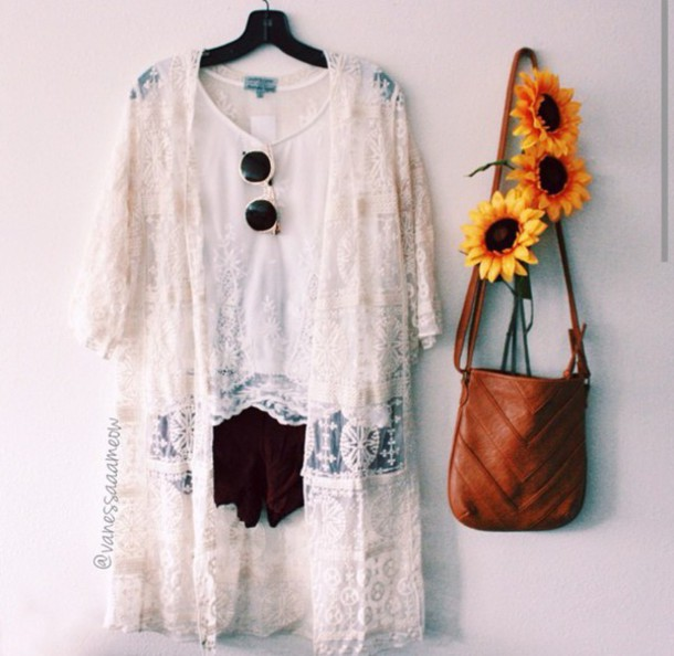 cardigan white crochet