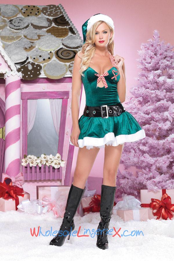 Wholesale Christmas Kandy Halter Dress CMS532 [CMS532] - $10.20 : CostumesRoad
