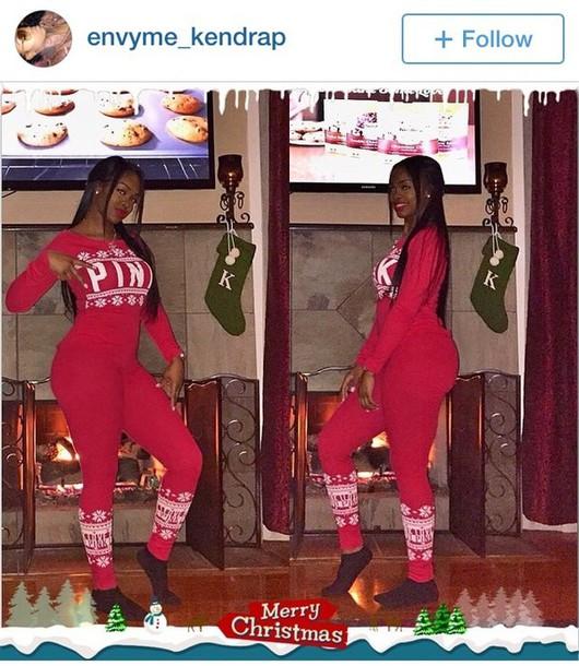 jumpsuit victoria's secret christmas instagram