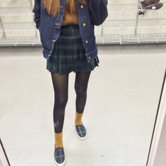 skirt plaid shirt tartan