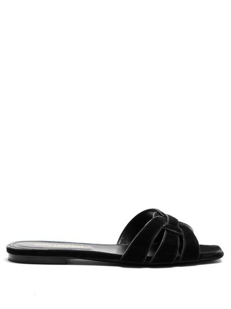 Saint Laurent velvet black shoes