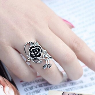 jewels vintage flower marcasite gold plated silver ring for women flower ring 925 sterling silver ring for women gift ideas evolees.com womens fashion ring popular fashion ring for her