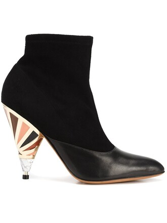 heel boots ankle boots black shoes