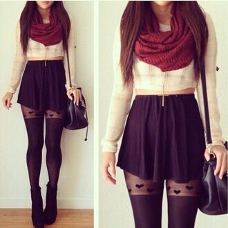 skirt tights top