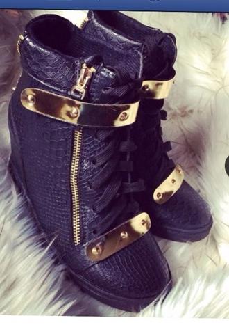 shoes black snake skin wedges