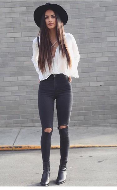 Blouse, White, Fashion, Outfit, Outfit Idea, Fashion Inspo