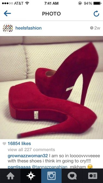 shoes instagram velvet shoes pumps red high heels red high-heels 16cm