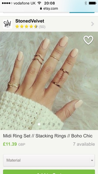jewels ring rings and tings rings cute summer gold midi rings rings and jewelry jewelry boho jewelry gold jewelry pretty gorgeous sexy beautiful want fashion fashion coolture gold knuckle ring gold ring