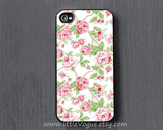 Vintage floral flower iphone case iphone 4 iphone by littlevogue