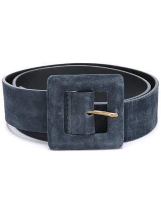 women belt leather blue