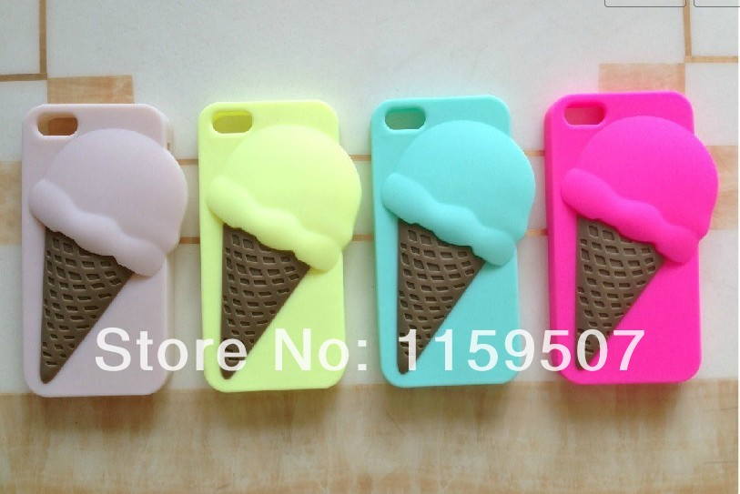 lovely gelato pique ice cream silicone back cover mobile phone cases skin for iphone 5 5s cell phone cover 1pc 4 color-in Phone Bags & Cases from Electronics on Aliexpress.com