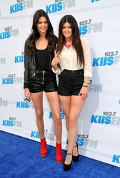 shoes,kendall and kylie jenner,coat,blouse,shorts