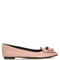 Ballerina leather point-toe flats
