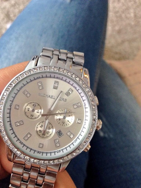 jewels michael kors watch montre michael kors argent