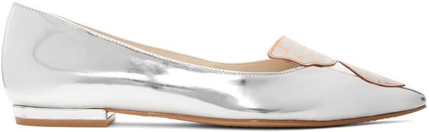 Sophia Webster metallic butterfly flats silver shoes